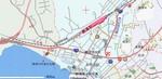 勝浦中央海水浴場周辺の地図