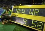 ボルト・陸上男子100メートルで世界新記録