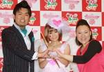 中川翔子とフォーリンラブ(右がバービー)