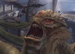 「ゴッド・オブ・ウォー トリロジー」の怪物と戦うクレイトス 画像