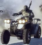 「バトルフィールド:バッドカンパニー2」に登場する4輪バイクの画像