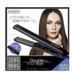 SALONIA  ダブルイオン  スーパーストレート&カールヘアアイロンは3129円!